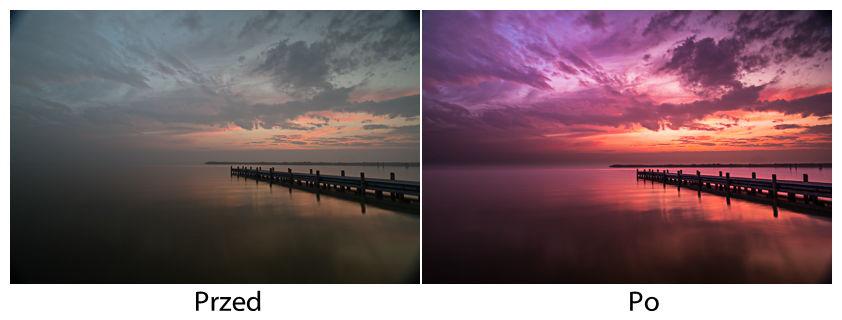 Przed i po retuszu, fot: Rafał Bachulski